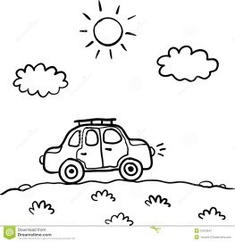 little-cartoon-funny-vector-car-sun-clouds-31013547