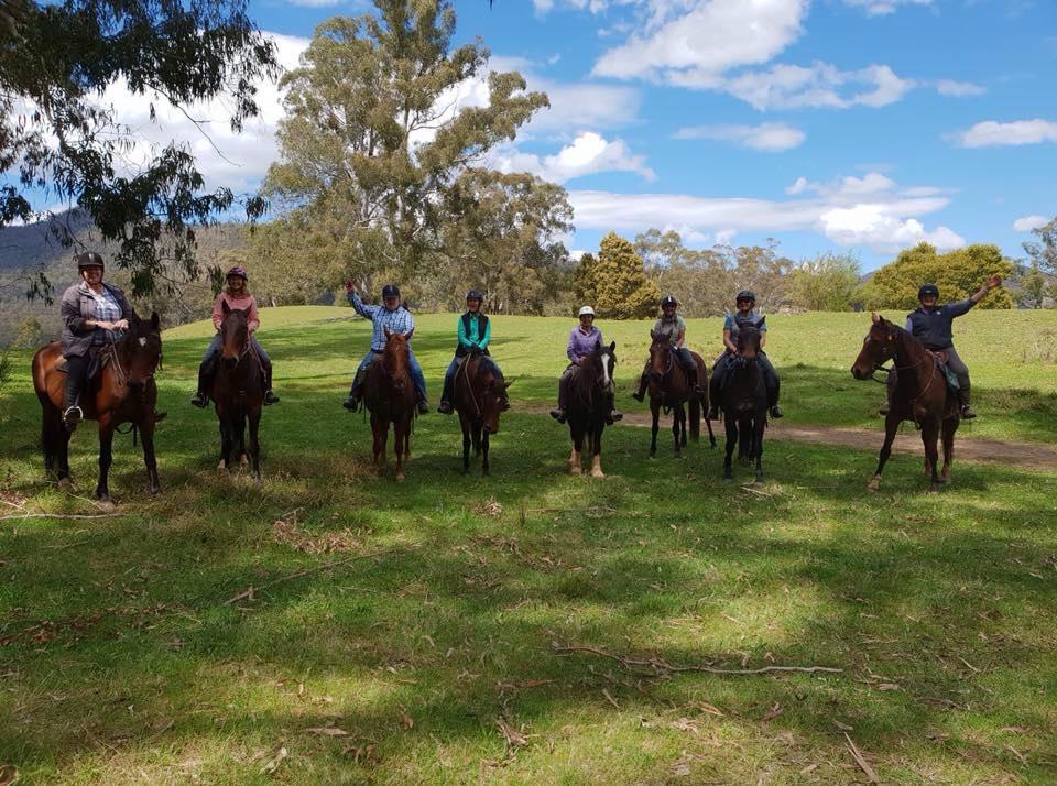 mounted ladies